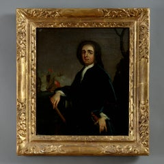 18th Century Oil, English School, Portrait of Admiral Edward Vernon (1684-1757)