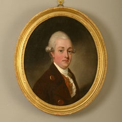 18th Century Oil Portrait of Francis Nevil Circle of Thomas Hickey