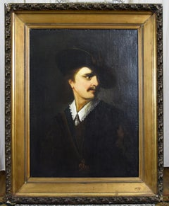 18th Century Portrait Oil Painting of a Noble Gentleman