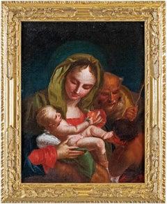 18th century Venetian figure painting - Virgin Child - Oil Canvas Tiepolo Venice