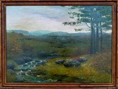 1904 Tonalist Connecticut Landscape