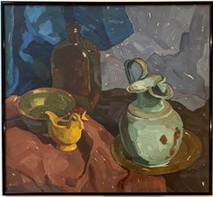 1920s Fauvist still-life - Glass bottle on a table - Vibrant Matisse