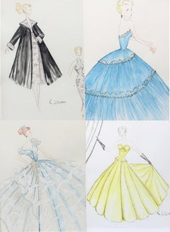 1950's Fashion Drawings