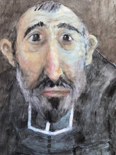 1960's French Portrait - Caricature of Clerical Gentleman