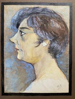 1960's French Portrait Stylish Fashionable Lady