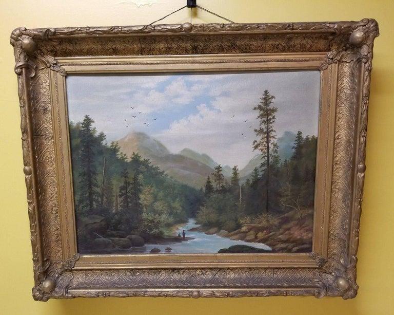 Unknown 19th Century American Hudson River School Landscape