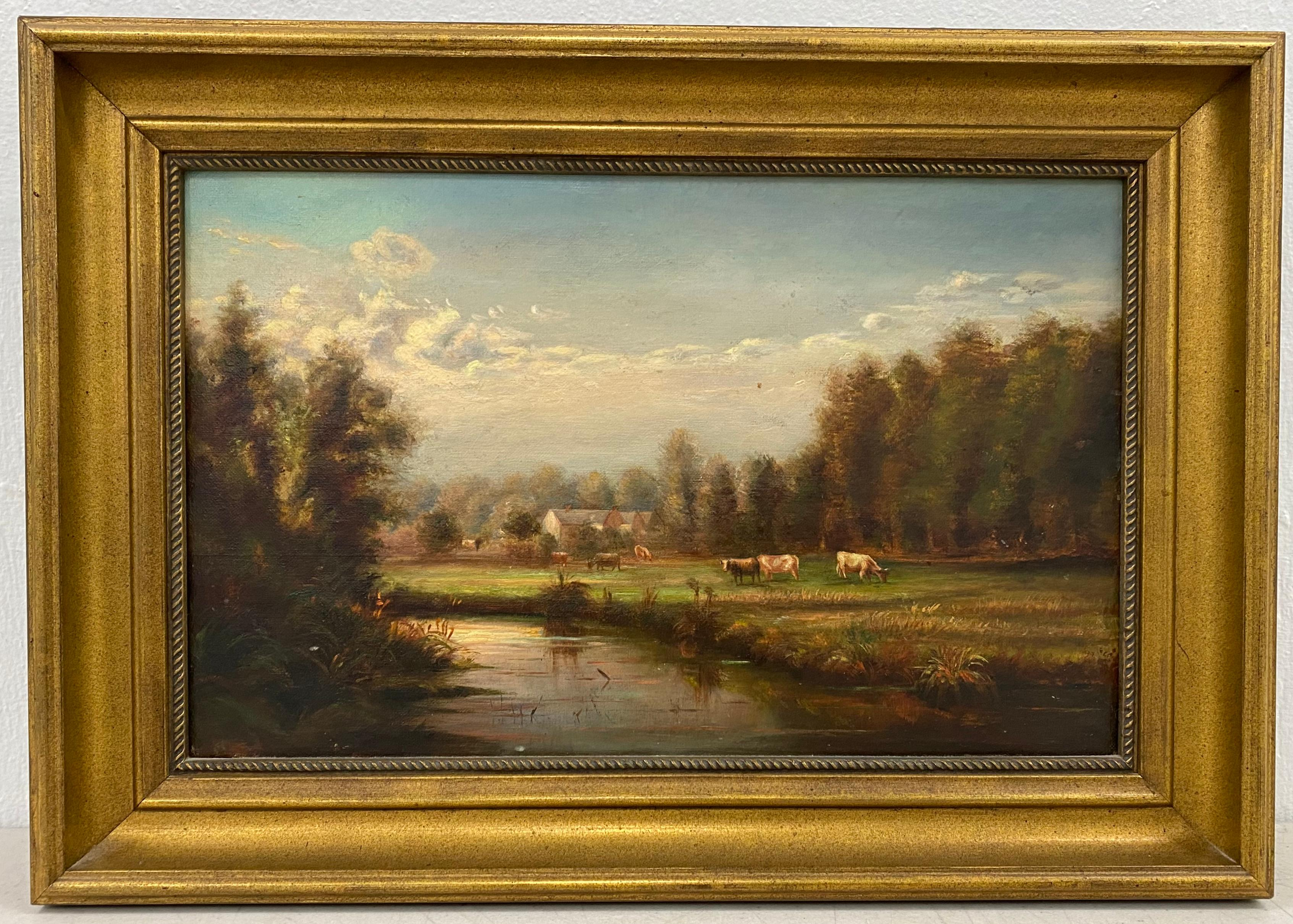 19th Century Country Landscape With Cattle