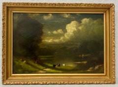19th Century English Country Landscape With Cattle