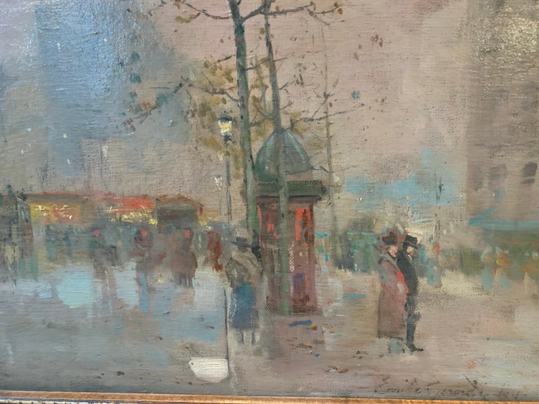 Black friday offer 19th century French impressionistic Parisian cityscape For Sale 2