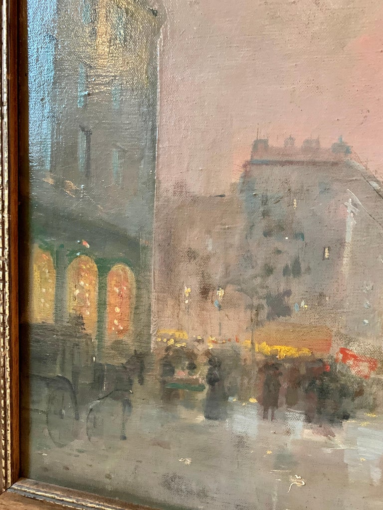 Black friday offer 19th century French impressionistic Parisian cityscape For Sale 4