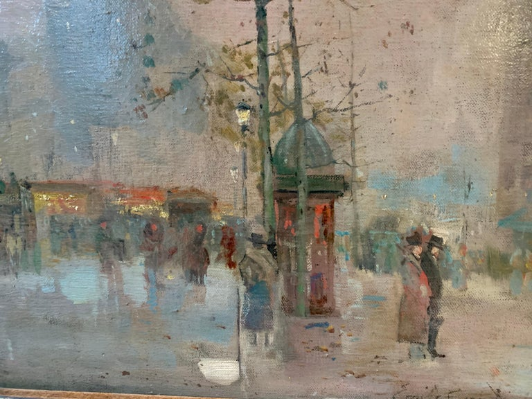Black friday offer 19th century French impressionistic Parisian cityscape For Sale 5