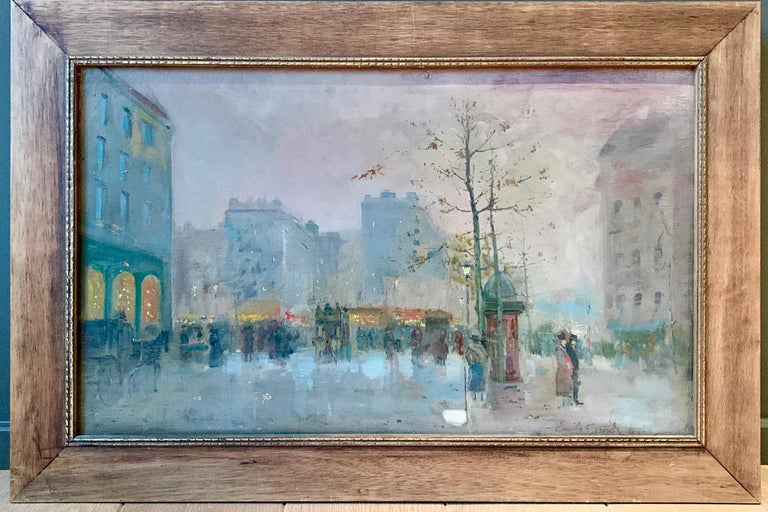 Black friday offer 19th century French impressionistic Parisian cityscape For Sale 1