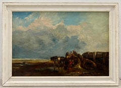 19th Century Landscape With Animals and Figures