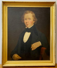 19th Century Oil Portrait of a Handsome Young Gentleman