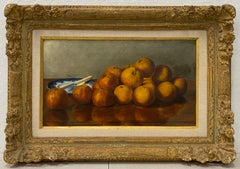 """19th Century """"Oranges"""" Still Life Oil Painting by Stevens"""