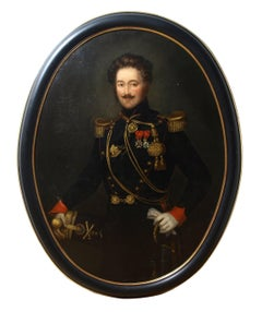 19th Century portrait painting of a French military officer