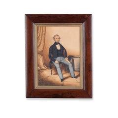 19th Century Primitive Portrait of Edward Chance