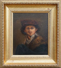 19th Century Study of Self Portrait of Rembrandt as a Young Man