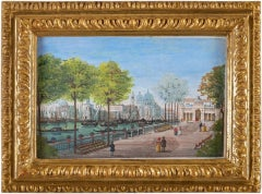 19th century Venetian landscape - Venice - Tempera on paper gouache