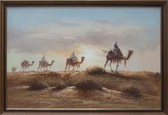 20th Century Acrylic - Desert Camel Train