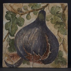 20th Century Oil Depicting a Fig