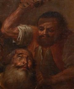 A Bearded Man Tortured By A Spiked Sandal, 17th century
