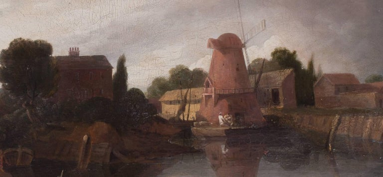 A fisherman before a windmill For Sale 1