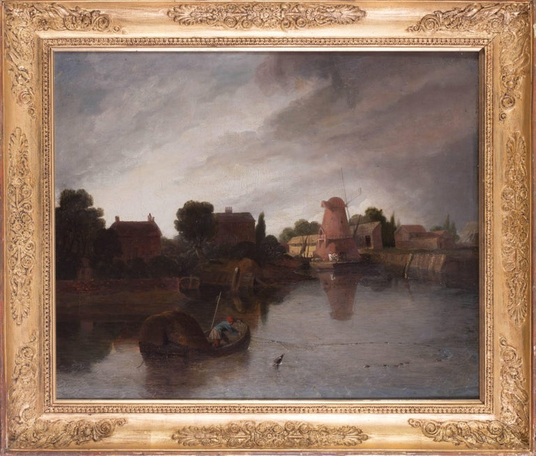 Dutch school, 18th / 19th Century A fisherman before a windmill Oil on canvas 22.1/2 x 25.3/4in. (57 x 65.5cm.)