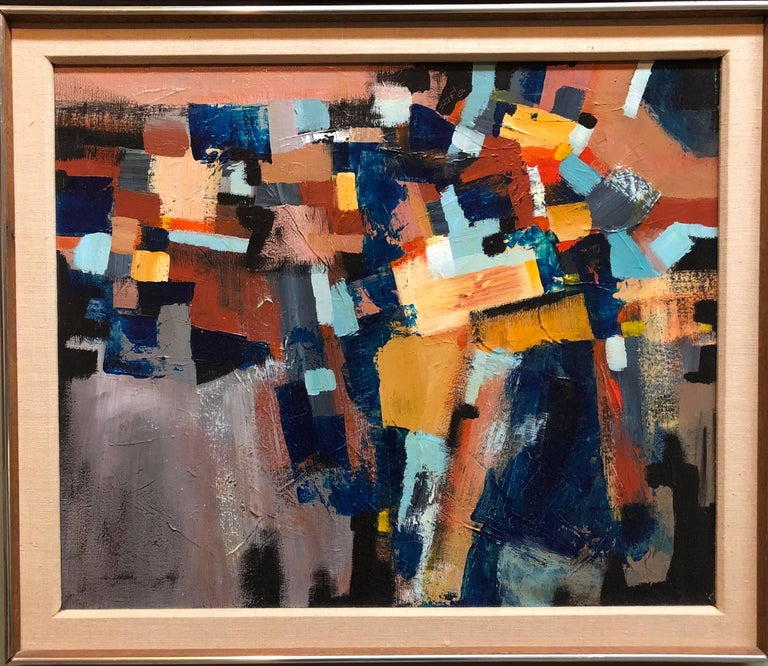 Inn the manner of the Hans Hofmann School. A great older Abstract Expressionist painting.