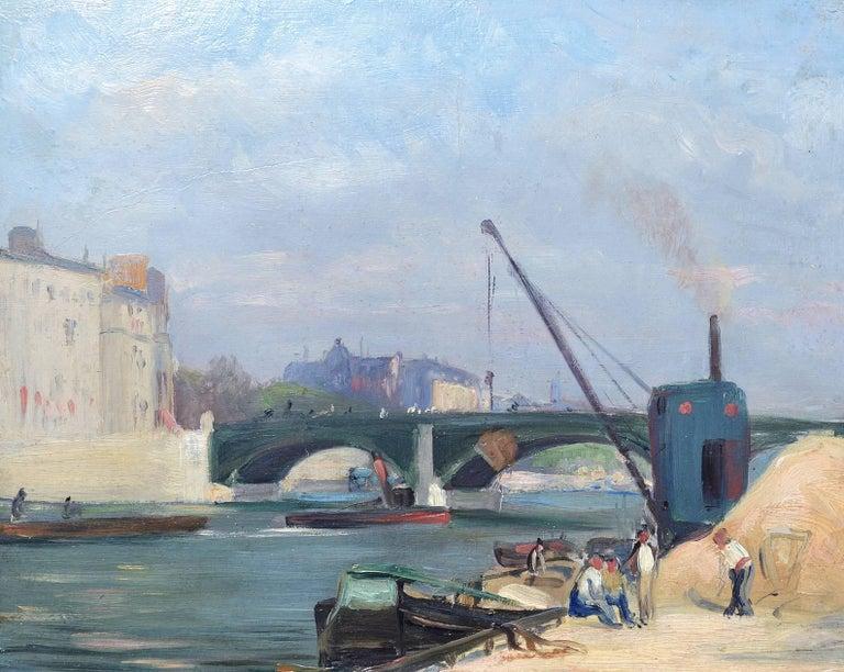 Unknown Landscape Painting - A Harbour