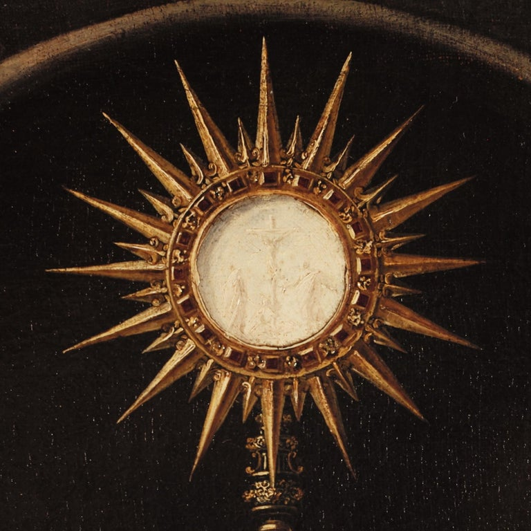 A Holy Monstrance Surrounded by Putti, Genoese School, c.1620-30, Oil on Canvas - Old Masters Painting by Unknown
