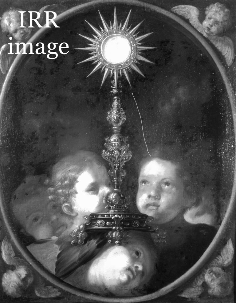 A Holy Monstrance Surrounded by Putti, Genoese School, c.1620-30, Oil on Canvas For Sale 1