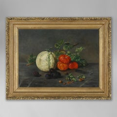 A Late 19th Century Still Life of Fruit, Oil on Canvas