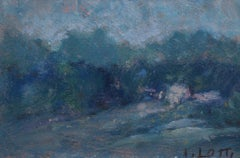 'Italian Landscape' by A. Lotti, Small Impressionist Landscape Painting