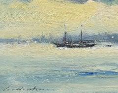A Motor Sailing Vessel Arriving in Venice