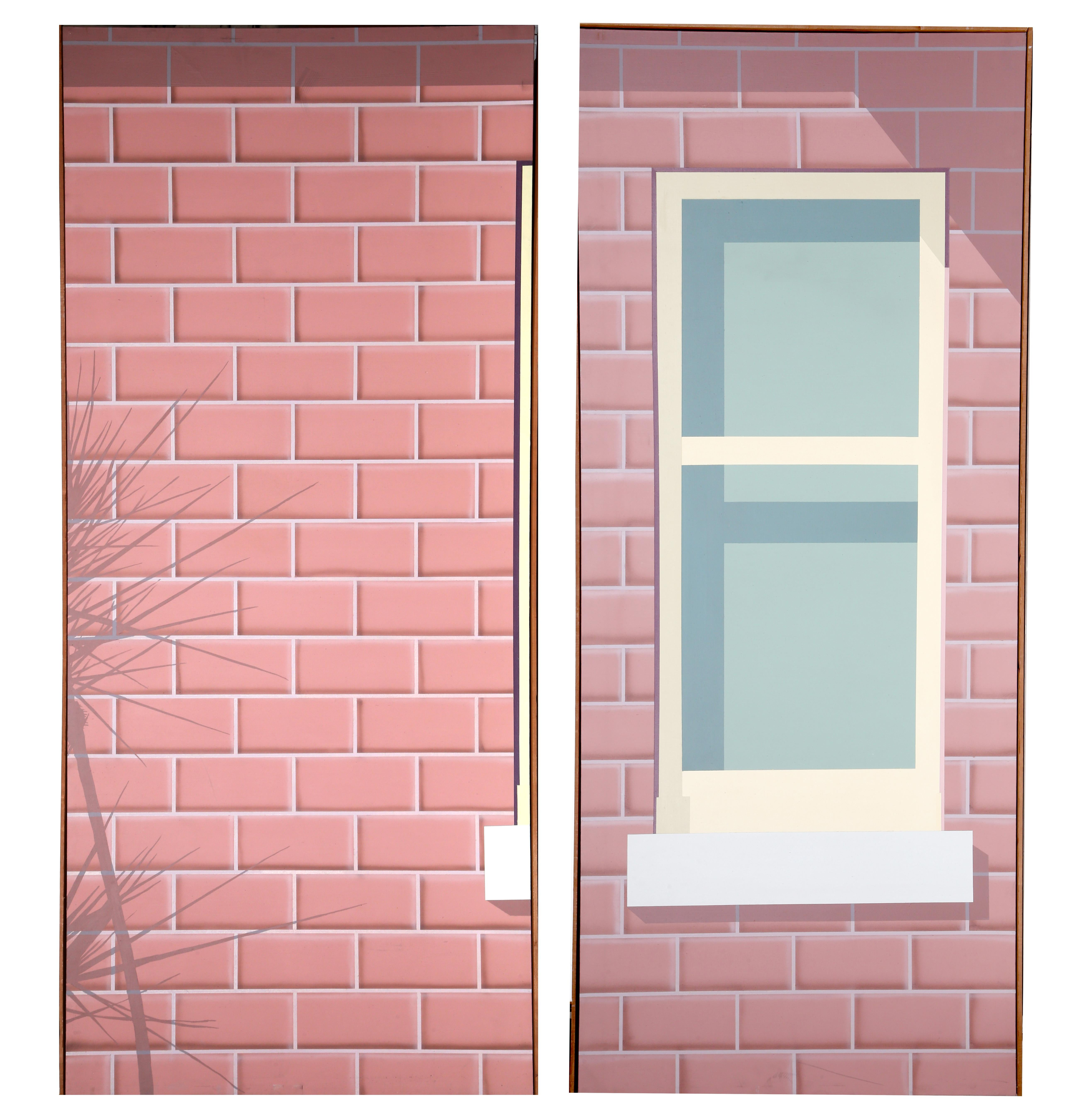 A Pair of Brick Wall Paintings the Size of a Wall