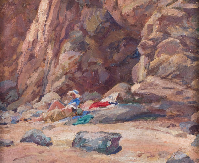 A pair of early 20th Century British Impressionist paintings of the beach  For Sale 6