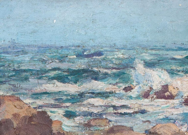A pair of early 20th Century British Impressionist paintings of the beach  For Sale 3