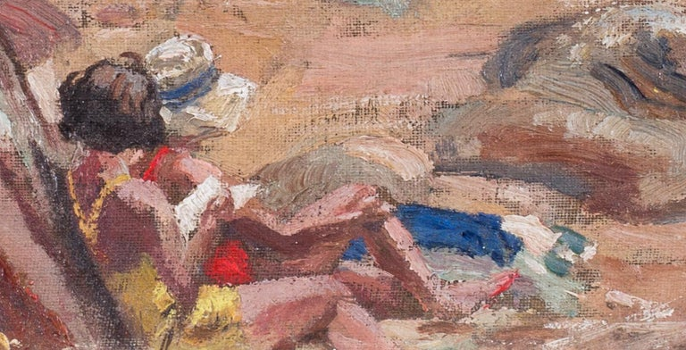 A pair of early 20th Century British Impressionist paintings of the beach  For Sale 4