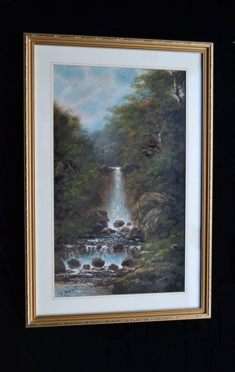 A Pair Of English Landscapes. Oil on paper - Victorian Art by Unknown