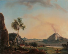 A pair of Indonesian Landscapes, by Charles Legrain (19th century)
