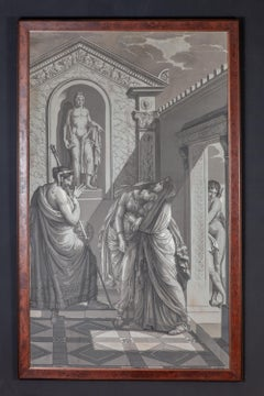 A Pair of  Wall Decoration 'En Grisaille' by Dufour, Paris, France, 19th Century