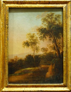 A Pair of Woodland Landscapes - Oil on Canvas by Italian School 18th-19th cent.