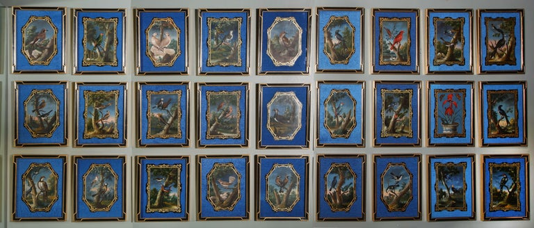 Each panel depicting a different bird species. The panels are all in original condition, recently mounted and framed. PROVENANCE: 18th century Chinese, probably for the English Market. THEN According to the last private English owner, they were