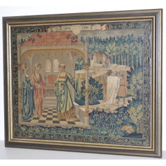 """A Scene From William Shakespeare's """"King Lear"""" Original Oil Painting c.1950"""