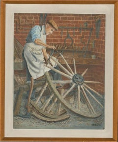 A. T. S. Palmer - 1970 Oil, The Wheelwright