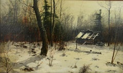Abandoned Cabin in the Woods Landscape