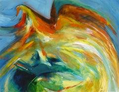 "Abstract - Bright Colored Avian Flish ""Envol"""