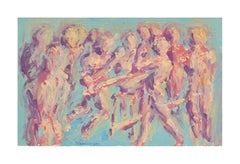 Abstract Expressionist Figurative -- Busking