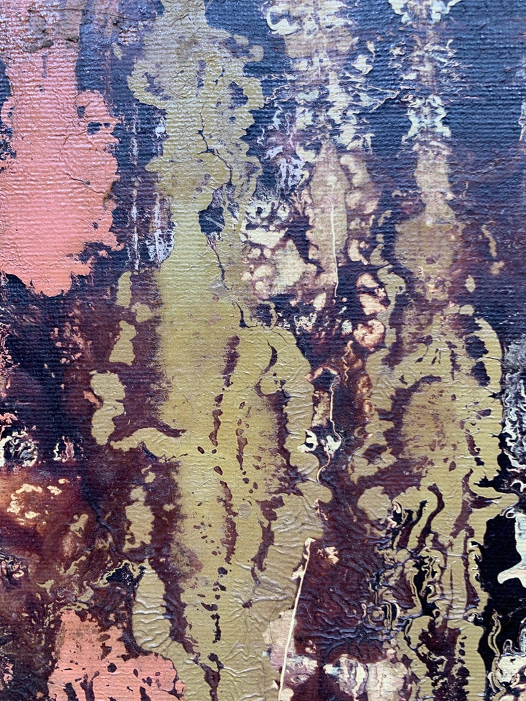 Abstract Expressionist mi-century modern painting For Sale 2